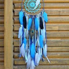 ~(VE)SMÍR~ Ručně vyráběný krajkový lapač snů s lapisem lazuli, průměr 25 cm Lapis Lazuli, Dream Catcher, Home Decor, Dreamcatchers, Decoration Home, Room Decor, Home Interior Design, Dream Catchers, Home Decoration