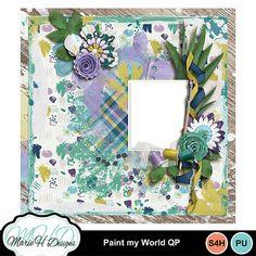 Digital Scrapbooking Kits   Paint my World QP-(marieh)   Everyday, Family, Girls, Memories   MyMemories