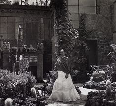 """Gisèle Freund, """"Frida in the Garden, Casa Azul"""" (1951) - """"Frida Kahlo will have her first solo show in New York City in more than 25 years, at the New York Botanical Garden (NYBG), of all places. Fittingly for the venue, the exhibition will """"focus exclusively on Kahlo's intense interest in the botanical world"""" — the first of its kind, according to the announcement."""""""