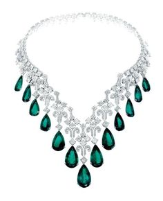 Emerald and diamond necklace by Chopard