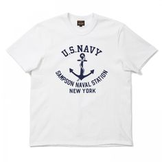 The Real McCoy's U.S Navy Military Tee - White - T-SHIRTS - CATEGORIES - Superdenim