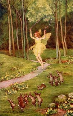A Spring Fairy by Olde America Antiques. A Spring Fairy. Ida Outhwaite Fairies from Olde America Antiques Online. Spring Aesthetic, Aesthetic Art, Aesthetic Pictures, Forest Fairy, Fairy Land, Fairy Tales, Woodland Fairy, Different Aesthetics, Spring Fairy