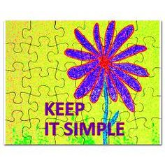 Wildflower Keep It Simple puzzle - SOLD a puzzle from Jan4insightDesigns on Cafepress, 10.22.13