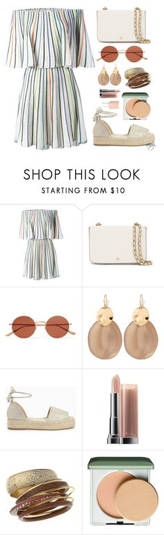 """""""Coachella Lakwachera"""" by nans-g ❤ liked on Polyvore featuring M Missoni, Tory Burch, Oliver Peoples, Alexis Bittar, Splendid, Maybelline, Miss Selfridge, Clinique and Essie"""