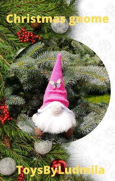 CROCHET PATTERN - Gnome Amigurumi Christmas Stuffed doll Simple instructions handmade items - only in pdf format English only Christmas Gnome, Christmas Ornaments, Handmade Ideas, Handmade Gifts, Photo Processing, Crochet Mouse, Funny Toys, Beautiful Gifts, Gnomes
