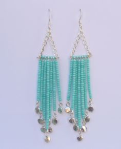 Seed Bead Chandelier Earrings by LizzysBlingyThingys on Etsy