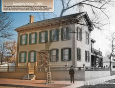 Abraham Lincoln home then and Now. Springfield,IL. Courtesy of Springfield Rewind.
