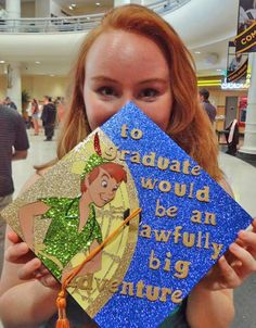 It's almost May, which means graduation season is around the corner. At many colleges and even some high schools, decorating your graduation cap or mortarboard has become a tradition for graduates. Check out these super cool graduation cap ideas. Disney Graduation Cap, Graduation 2016, Graduation Cap Designs, Graduation Cap Decoration, High School Graduation, Graduate School, Pa School, Nursing Graduation, Graduation Quotes