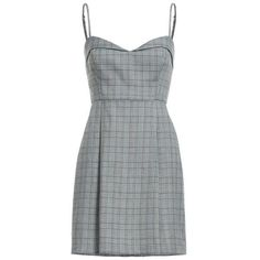 Clothing Plaid Spaghetti Strap Dress (1,175 HNL) ❤ liked on Polyvore featuring dresses, vestidos, grey plaid dress, plaid tartan dresses, spaghetti strap dress, no sleeve dress and gray sleeveless dress