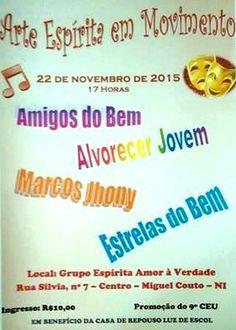 Grupo Espírita Amor à Verdade Convida para o Evento Beneficente Arte Espírita em Movimento - Nova Iguaçu - RJ - http://www.agendaespiritabrasil.com.br/2015/11/16/grupo-espirita-amor-a-verdade-convida-para-o-evento-beneficente-arte-espirita-em-movimento-nova-iguacu-rj/