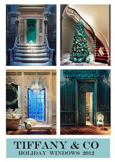 Tiffany & Co Holiday windows 2012. Miniature scene with Tiffany Jewelry..
