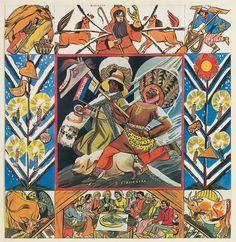 Magic of the Slavs' cycle by Zofia Stryjeńska (Polish, Paiting, Illustration, Painting, Art, Folklore, Inpiration, Tumblr, Folk, Slavic