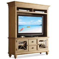 Coventry 2 Door TV Console & Hutch with 6 Shelves by Riverside Furniture - AHFA - Wall Unit Dealer Locator