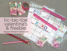 tic-tac-toe Valentine's idea and freebie