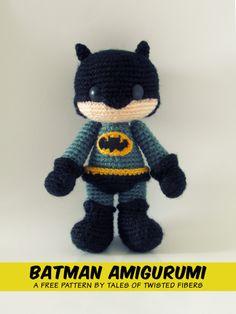 BATMAN AMIGURUMI FREE PATTERN (click image for pattern)