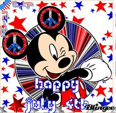 mickey mouse fourth of july clipart