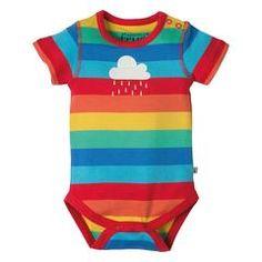 Frugi Lowen Body - Rainbow Stripe/Cloud