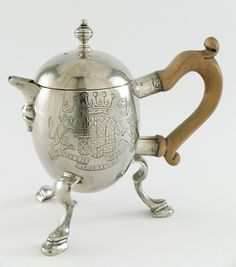 Hot Milk Jug with Arms of Donegall. Bowles Nash (England, London, active beginning 1720). England, London, circa 1725.