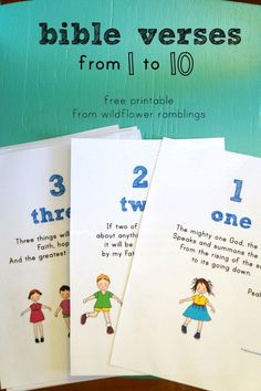 I am so happy to bring you my free printable for Bible Verses from 1 to 10. We value memorizing the Scriptures in our home, and hope they will stay with our children all the days of their lives! These verses emphasize the numbers one through ten, which I think is unique — this helps...Read More »