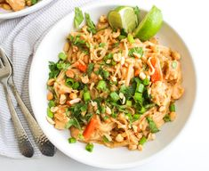 Instant Pot Pad Thai - Gluten Free - The Bettered Blondie - Popular Recipes 2019 Chicken Zoodle Soup, Chicken Curry Salad, Asian Recipes, Ethnic Recipes, Instant Pot Dinner Recipes, Pressure Cooker Recipes, Slow Cooker, Pressure Cooking, Cooking Recipes