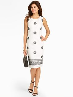 Talbots - Embroidered Floral Burst Sheath     Misses Discover your new look at Talbots. Shop our Embroidered Floral Burst Sheath for stylish clothing and accessories with a modern twist at Talbots