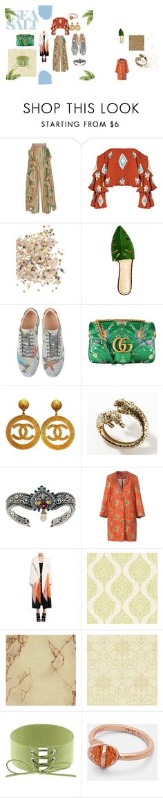 """""""summer passion"""" by lilmayxox on Polyvore featuring Viva Aviva, Mochi, Topshop, Charlotte Olympia, Gucci, Cartier, Barbara Bixby, Save the Queen, Tom Ford and Graham & Brown"""