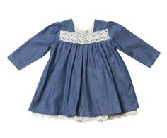 Bebe by Minihaha - 'Nina' L/S Dress with Lace Detail