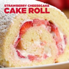 Strawberry Cheesecake Cake Roll