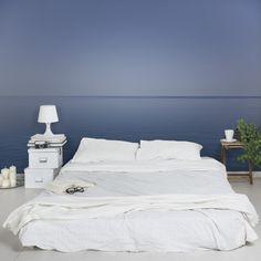 Fototapete Meer - Vliestapete Premium - Ruhiger Ozean bei Dämmerung - Tapete Quer