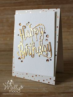 Copper Birthday – summer quick and glam! (Mellymoo papercrafting) Copper Birthday – summer quick and glam! 50th Birthday Cards For Women, Cricut Birthday Cards, Homemade Birthday Cards, Cricut Cards, Happy Birthday Cards, Birthday Wishes, Scrapbook Birthday Cards, Homemade Cards For Men, Simple Birthday Cards