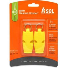 SOL Rescue Howler Whistle - Package of 2