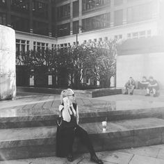 #london #starbucks #coffe #black #and #white #canary #warth #london #england #chill by edita_ruksenaite