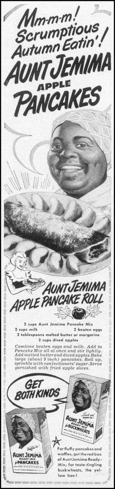 RECIPE: Aunt Jemima Apple Pancake Roll | DATE: 1949