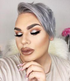 Dope Makeup, Makeup Inspo, Makeup Inspiration, Makeup Tips, Makeup Looks, Hair Makeup, Bold Brows, Bare Face, Unique Faces