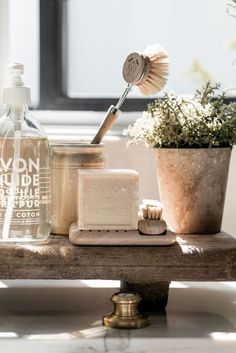 DIY Projects, recipes, and home decorating by My Sweet Savannah. Vintage Kitchen Sink, Kitchen Sink Decor, Kitchen Styling, Kitchen Design, Kitchen Living, Kitchen Ideas, Console Table Styling, Interior Decorating Styles, Interior Design