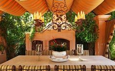 beautiful outdoor veranda in santa fe via luxuryportfolio.com