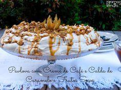 7gramas de ternura: Pavlova com Creme de Café e Calda de Caramelo e Frutos Secos