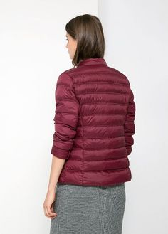 Ultra-light water-repellent feather down jacket with round neck and zip fastening through front. Twin welt pockets and long sleeves. It includes a small bag to store the garment. Winter Jackets, Long Sleeve, Fashion, Winter Coats, Moda, Winter Vest Outfits, Long Dress Patterns, Fashion Styles, Fashion Illustrations