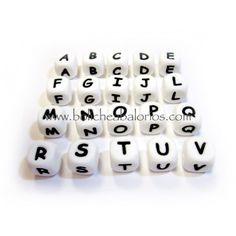 Letras de silicona para personalizar chupeteros