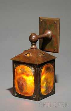 Turtleback Wall Lamp Attributed to Tiffany Studios Verdigris bronze New York, early 20th century