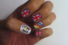 Summer Olympic nails #London2012