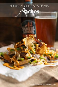 Philly Cheesesteak Nachos - www.countrycleaver.com