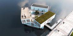 水上に浮かぶコンテナハウスは、コペンハーゲンの「学生寮」だった。 | TABI LABO