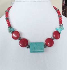 Southwestern Tribal Howlite Necklace by Earthcentricity on Etsy