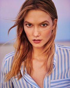 Karlie Kloss models stripe top for Marella spring summer 2016 campaign