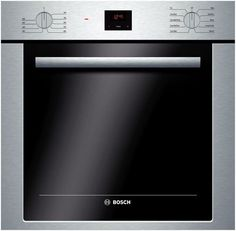 Bosch HBE5451UC 24 Inch Single Electric Wall Oven with 2.8 cu. ft. Capacity, European Convection Cooking, 10 Specialized Cooking Modes, Telescopic Rack, Halogen Lighting, Delay Start and DualClean Cleaning System
