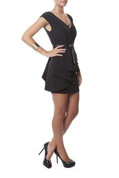 Shop Dress Sm Neckline V Rayon 2416 by Q2 now on nelou.com. Plus 6700 more designs.