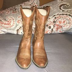 JUSTFAB-Cowboy boots Faux leather cowboy boots!!! Only worn for a couple hours, practically NEW. JustFab Shoes Heeled Boots