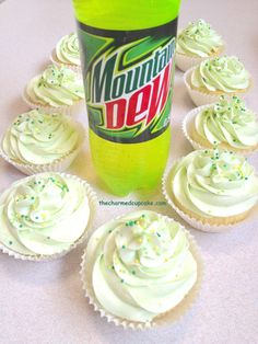Mountain Dew cupcakes @Jessica Minchew These reminded me of you! #mountaindew