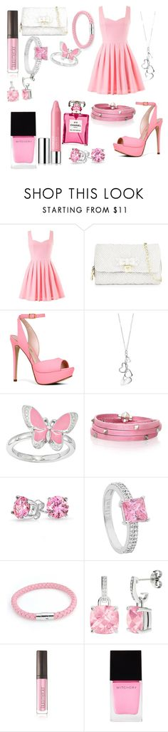 """Pink"" by owl33546 ❤ liked on Polyvore featuring Betsey Johnson, ALDO, Fiorelli, Sif Jakobs Jewellery, Bling Jewelry, StyleRocks, Laura Mercier, Witchery, Clinique and Chanel"